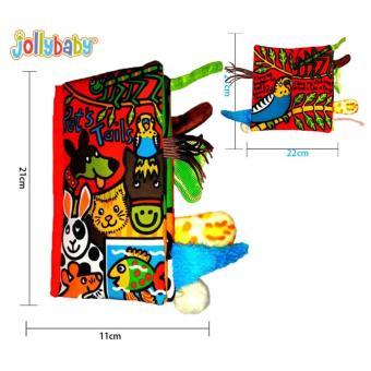 Sách vải Jollybaby Pet's Tails cho bé chơi mà học