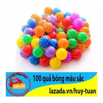 Bộ 100 quả bóng nhựa nhiều màu sắc cho bé