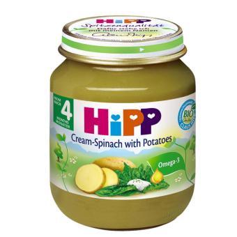 Dinh dưỡng đóng lọ Hipp rau chân vịt, khoai tây, sữa 125g