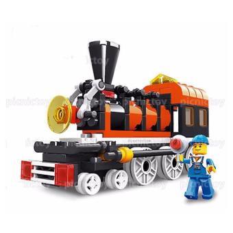 Đồ chơi xếp hình Đầu tàu xe lửa mini Wange 26091n