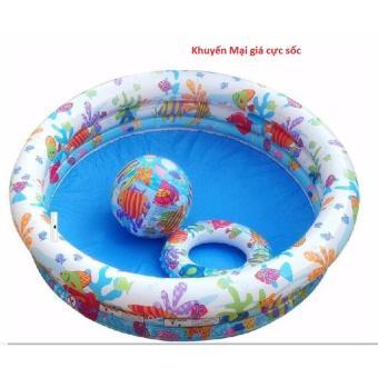 Bộ bể bơi 3 Món INTE: bể bơi, phao bơi, bóng