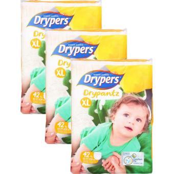 Bộ 3 tã quần Drypers Drypantz XL.42(12-17kg