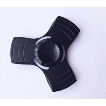 Con quay 3 cánh Fidget Spinner không ma sát xả stress màu đen (hàng cao cấp loại 1)
