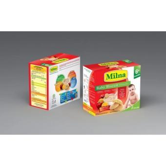 Bộ 2 Hộp Bánh Ăn Dặm Milna Vị Cam Táo 150G(Cho Bé Trên 6 Tháng)