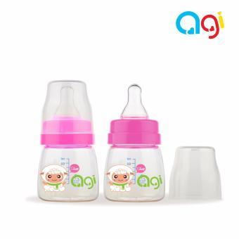 Bộ 2 bình sữa Agi Premium 60ml (Màu trắng)