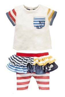 Bộ quần váy ShopGiaSoc DB020 (Trắng)