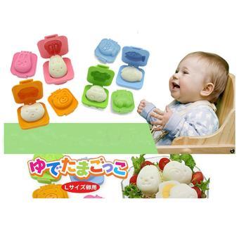Bộ 6 khuôn ép bánh, cơm, trứng hình thú dễ thương cho bé ăn dặm