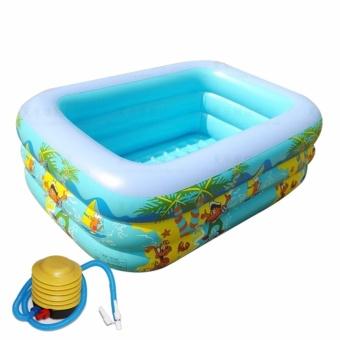 Be tam be boi phao - Bể bơi phao kích thước lớn KT13, Chắc chắn - TẶNG BƠM .