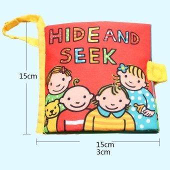 Sách vải Jollybaby Hide & Seek cho bé chơi mà học