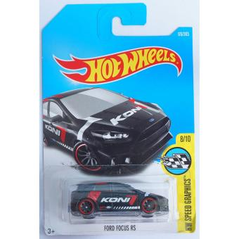 Xe ô tô mô hình tỉ lệ 1:64 Hot Wheels 2017 Ford Focus RS Hw Speed Graphics 176/365 ( Màu Đen )
