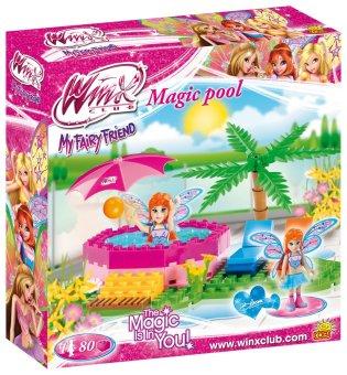 Bộ đồ chơi lắp ráp hồ bơi phép thuật của công chúa Bloom COBI 25082, hàng Châu Âu