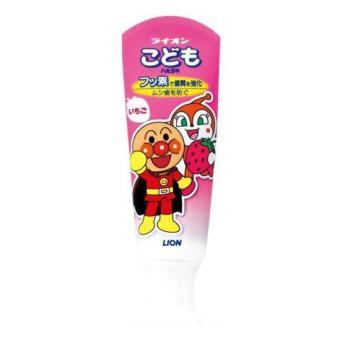 Kem Đánh Răng Cho Bé Lion Hương Dâu Tây Nhật Bản 40g