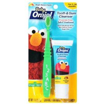 Bộ kem đánh răng và bàn chải cho bé chập chững hương Chuối Táo Baby Orajel 28.3 gr