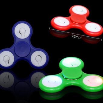 Đồ chơi con quay xả stress Fidget Spinner LED (Xanh)