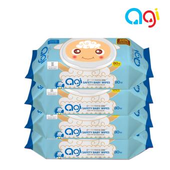 Bộ 4 gói khăn ướt Agi 80 tờ không hương