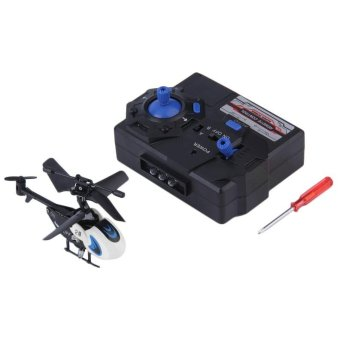 OH 1 pc Cool New Mini Helicopter with Remote Control RC Micro Remote Control White - intl