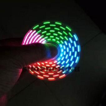 Sáng 18 kiểu đèn led - Con quay Fidget Spiner có đèn led