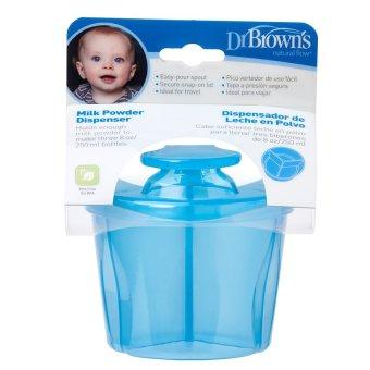 Hộp chia sữa 3 ngăn loại ngắn Dr Brown's (Xanh)