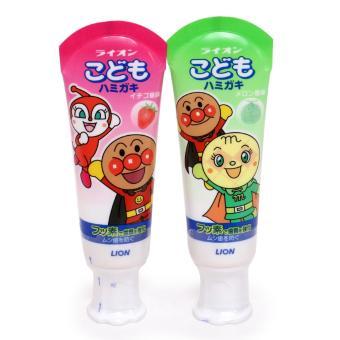 Bộ 2 Kem đánh răng dành cho bé của Lion Nhật Bản