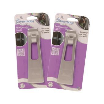 Bộ 2 bộ khóa an toàn cài tủ lạnh F1002 Silver Dreambaby