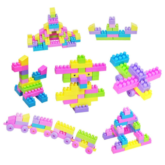 46Pcs Plastic Children Kid Puzzle Building Blocks Toy (Intl)