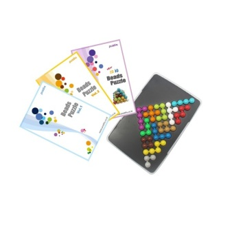 Bộ xếp hình IQ câu đố viên bi hình tam giác Puzzlia TT3