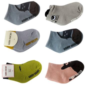 Bộ 6 đôi Tất Kiddy Socks cho bé yêu từ 6 tháng- 3 tuổi - Phú Đạt