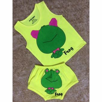Bộ quần áo trẻ em in hình con ếch BTE021 (Màu vàng)