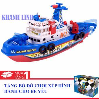 Đồ chơi tàu thủy dã chiến chạy bằng pin, chạy được dưới nước (Khánh Linh) + tặng kèm bộ xếp hình cho bé yêu