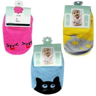 Bộ 3 đôi Tất Kiddy Socks cho bé 0 - 24 tháng tuổi