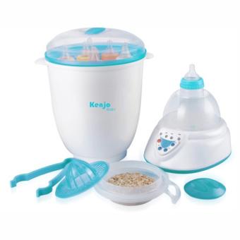 Máy tiệt trùng bình sữa và hâm sữa Kenjo KJ-06N (Trắng phối xanh)