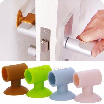 Bộ 4 cao su chắn cửa ngăn sập và trầy tường,giảm ồn (xanh lá)
