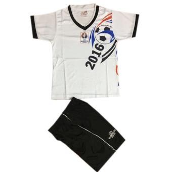 Bộ quần áo thể thao em bé màu trắng UERO 2016