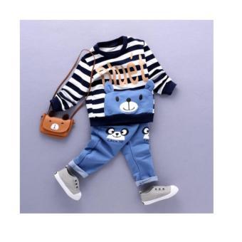 Bộ quần áo bé trai phối túi dễ thương NTKIDS-122 (Đen)