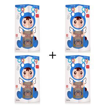 Bộ 4 Bình Sữa Agi Cổ Thường 120ml