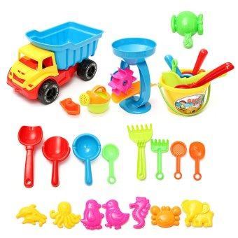 21x Beach Sand Tools Toys Car Set Shovel Outdoor Toys For Over 3 years Old Kids - intl