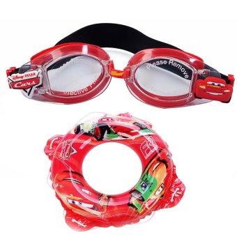 Bộ phao tròn 50cm và kính bơi hình Cars Mesuca D702037-F