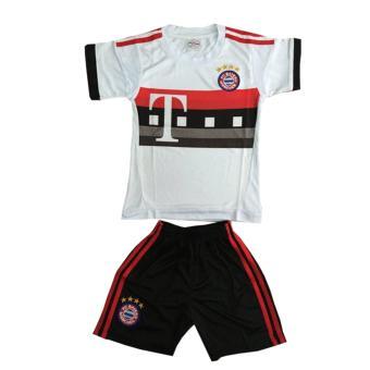 Bộ đồ thể thao em bé mẫu Bayer Munich màu trắng