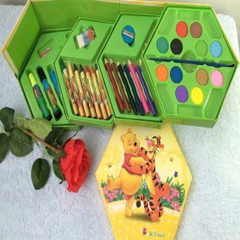 Bộ bút chì màu xoay 4 tầng 46 món ngộ nghĩnh cho bé yêu