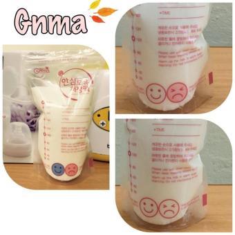 Túi trữ sữa có cảm ứng nhiệt Gnma-Hàn Quốc 50 túi(Trắng)