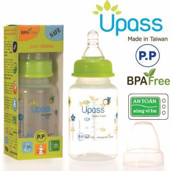 Bình sữa cổ thường P.P 120ml : UP06401CX