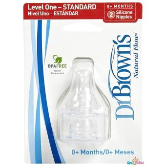 Ty bình sữa Dr Brown cổ thường size 1 - 2 cái / vỹ