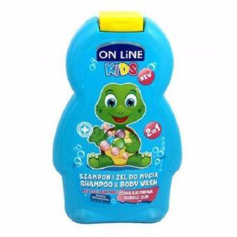 Sữa Tắm Gội 2in1 On Line Kids Hương Kẹo Gum - 250ml(Xanh Dương Nhạt)