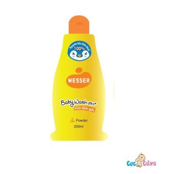 Sữa tắm gội Wesser 200ml - Cam