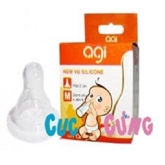 Ty bình sữa Agi cổ thường size M - đơn(Trắng)