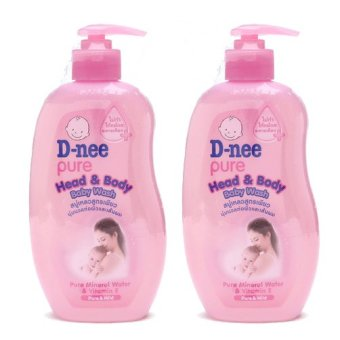 Bộ 2 Sữa tắm gội bổ sung Vitamin E D-nee 380ml