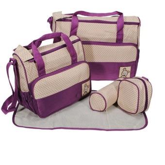 Bộ túi đựng đồ cho mẹ và bé (Tím)