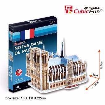 Mô hình sa bàn Cubic Fun 3D bằng giấy cứng: nhà thờ đức bà Paris của Pháp