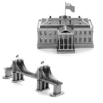 Bộ 2 xếp hình 3D Nhà Trắng và Cầu