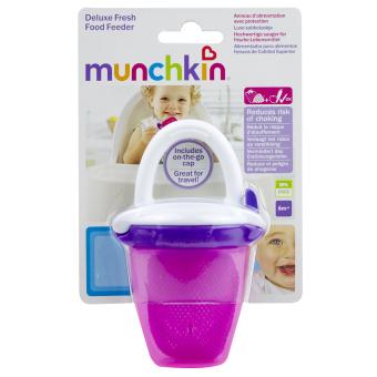 Túi ăn chống hóc có nắp Munchkin 24183 (Đỏ)